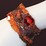 Beaded Cuff Swarovski Crystals