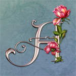 "Jaguarwoman's ""Rose Wedding"" Decorative Alphabet"