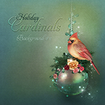 "Jaguarwoman's ""Holiday Cardinals Background #2"""