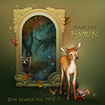 "Jaguarwoman's ""Harvest Fawn Background #2"""