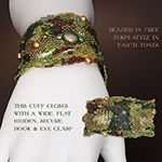 "Jaguarwoman's ""Sage Meander"" Beaded Cuff"