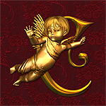 "Jaguarwoman's ""Golden Cherubs"" Decorative Alphabet"