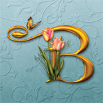 "Jaguarwoman's ""Tulip Joy"" Decorative Alphabet"