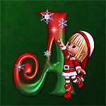 "Jaguarwoman's ""Christmas Elves Decorative Alphabet"""