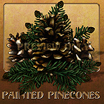 "Lucie's ""Painted Pinecones"""