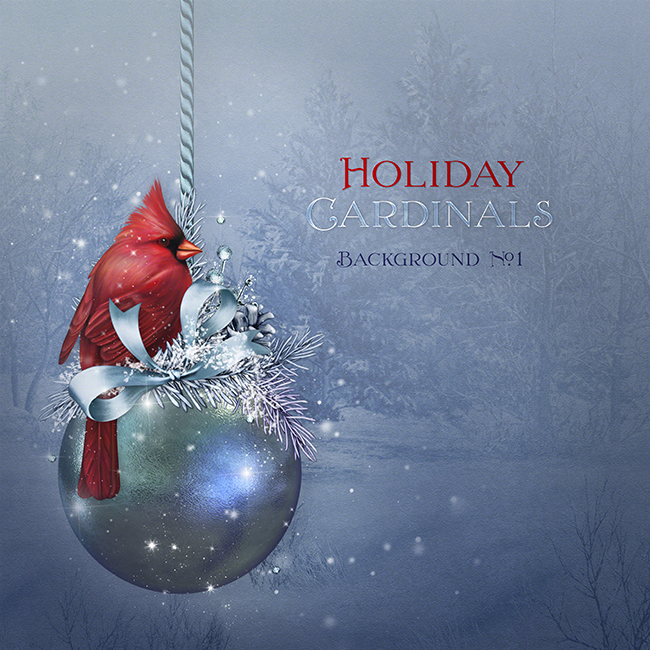 "Jaguarwoman's ""Holiday Cardinals Background #1"""