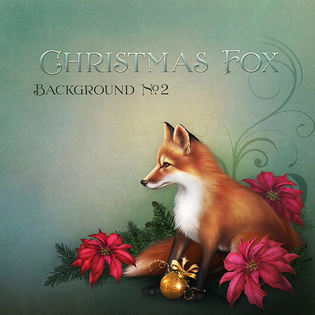 "Jaguarwoman's ""Christmas Fox Background 2"""