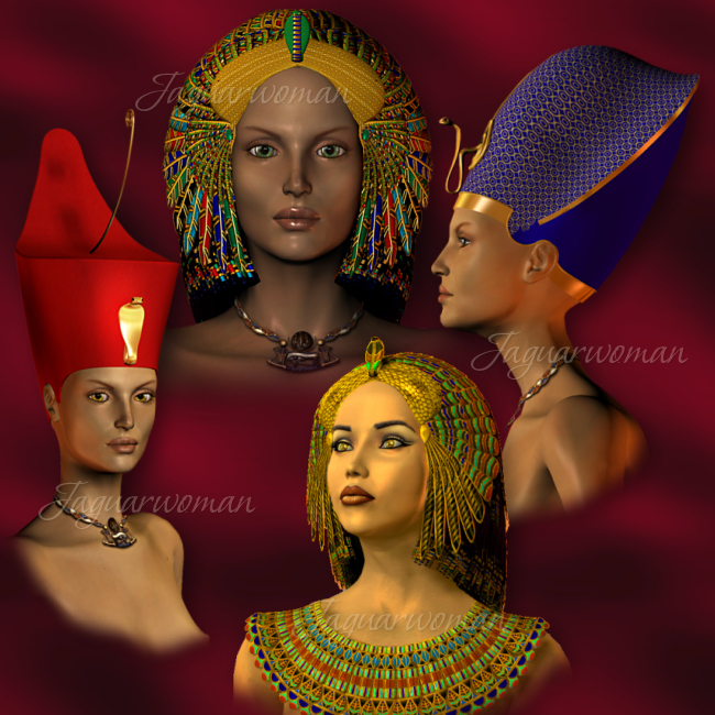 Jaguarwoman's Egyptians : Jaguarwoman, Rare & Powerful Design