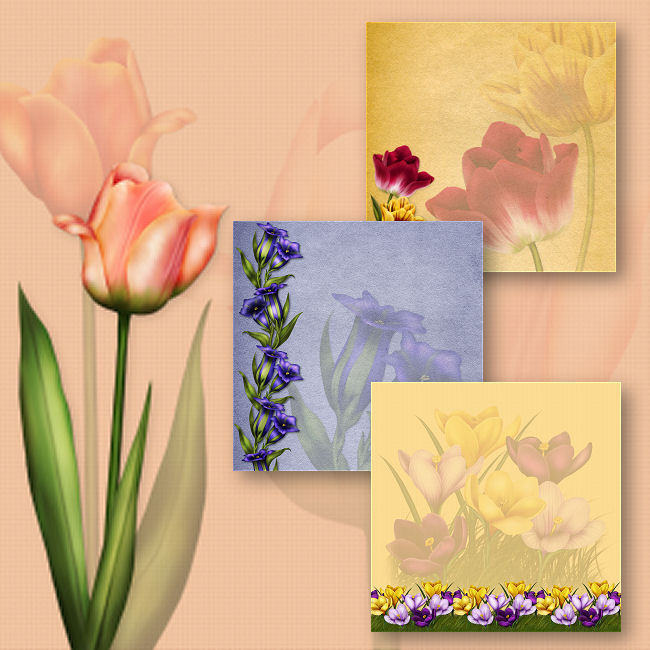 "Jaguarwoman's ""Luscious Floral Background Papers I"""
