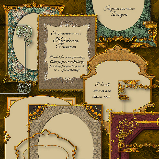 "Jaguarwoman's ""Luscious Heirloom Frames I"""