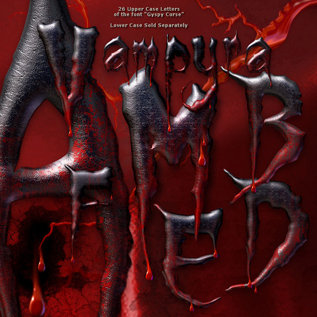 "Jaguarwoman's ""Vampyra"" Decorative Alphabet"