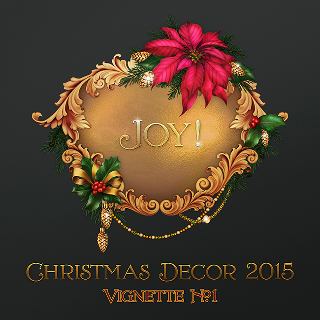 "Jaguarwoman's ""Christmas Decor 2015 Vignette #1"""